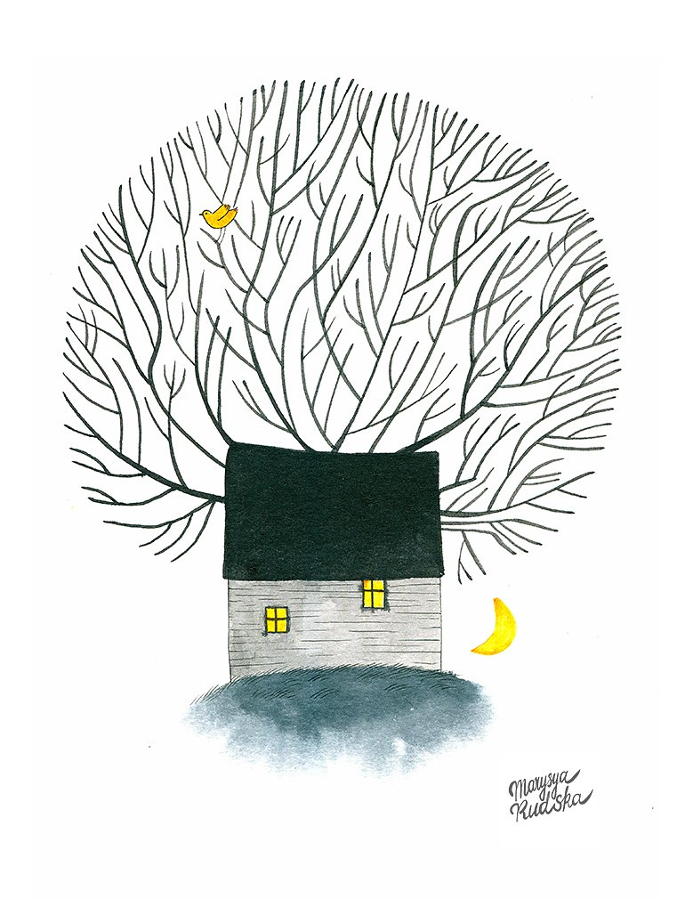 House and the Moon
